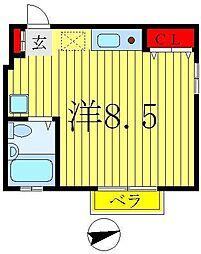 ドミール竹ヶ花[1階]の間取り