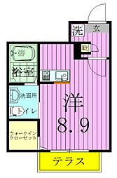 siro上本郷[1階]の間取り