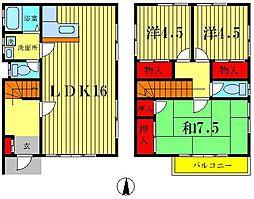 [一戸建] 東京都葛飾区高砂7丁目 の賃貸【/】の間取り