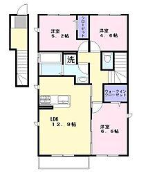 PROUD1[2階]の間取り
