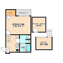 コンフォート ベネフィスタウン 六本松[1階]の間取り