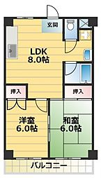TSUJIHANAビルディング[5階]の間取り