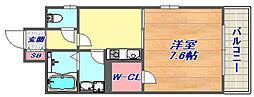 兵庫県神戸市灘区篠原本町2丁目の賃貸マンションの間取り