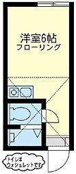 ユナイト 鶴見ルーブルの杜[1階]の間取り