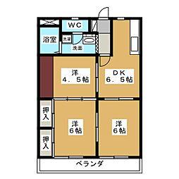 ビクトリーマンション[4階]の間取り
