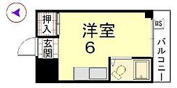 カーサ船岡山[103号室]の間取り