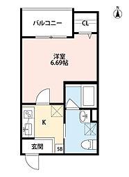 Osaka Metro千日前線 小路駅 徒歩5分の賃貸アパート 3階1Kの間取り