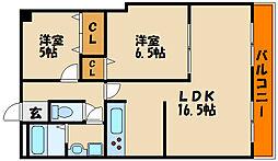 エルコーポ2番館[5階]の間取り