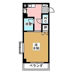 ラ・ウィング青山[1階]の間取り