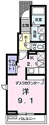 ボヌール・エターナル[103号室]の間取り