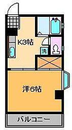 コーポ長崎[2階]の間取り