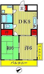 セジュール壱番館[5階]の間取り