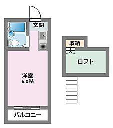 パンシオン鶴見[203号室]の間取り