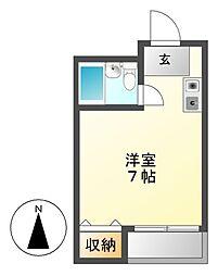 パール熱田[4階]の間取り