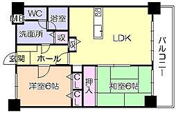グランピアマンション津福[907号室]の間取り