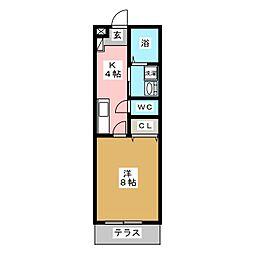 レクール大江[1階]の間取り