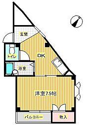 ベル桜井[3階]の間取り