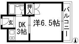 サンシャイン上池田[3階]の間取り