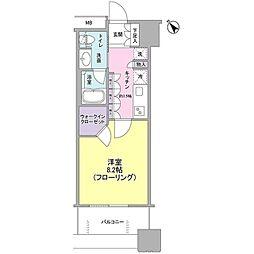JR山手線 池袋駅 徒歩11分の賃貸マンション 2階1Kの間取り