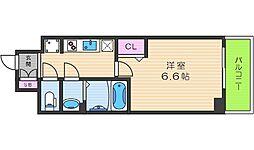 プレサンスTHE TENNOJI 逢坂トゥルー 6階1Kの間取り