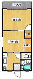 兵庫県豊岡市妙楽寺の賃貸アパートの間取り