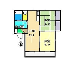 クレセント・トウヨウ B棟[2階]の間取り