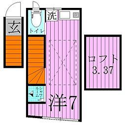 サークルハウス竹の塚壱番館[2階]の間取り