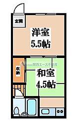 大阪府大阪市天王寺区味原本町の賃貸マンションの間取り