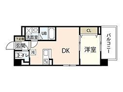 Felice Nishikawa 4階1LDKの間取り