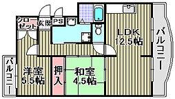 ベイリーフマンション[302号室]の間取り