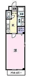 愛知県名古屋市西区花の木2丁目の賃貸アパートの間取り