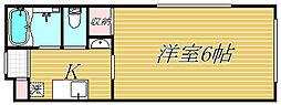 東京都世田谷区北沢1丁目の賃貸アパートの間取り