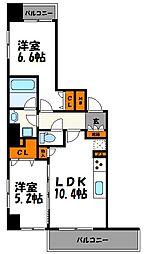 ルキシア薬院[4階]の間取り