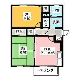 コーポルナール[2階]の間取り