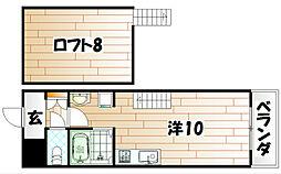 サンシティ小石[413号室]の間取り