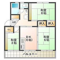 新多聞第2住宅116号棟[5階]の間取り