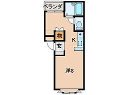 トリムI[1階]の間取り