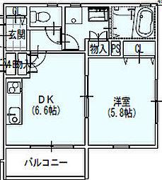 コンフォート本町[1階]の間取り