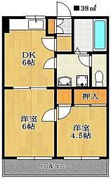 パレ・ドール小川[303号室]の間取り