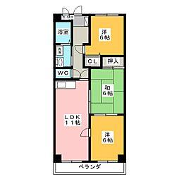 グランシャリオ[5階]の間取り