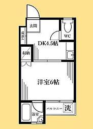 カネトモ新宿マンション[30C号室]の間取り