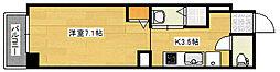 (仮称)府中大須4丁目ビル 1階1Kの間取り