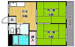 岡田マンション[2階]の間取り