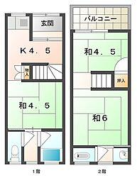 [テラスハウス] 大阪府門真市常称寺町 の賃貸【/】の間取り