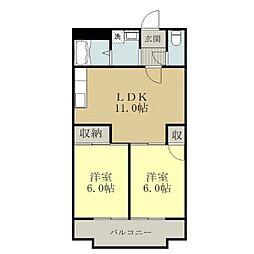 レジデンス社台[4階]の間取り