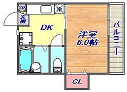 ATホーム[205号室]の間取り