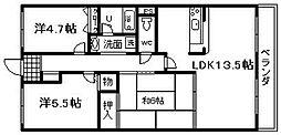 メゾン羽倉崎 新川第4マンション[307号室]の間取り