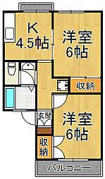 セジュールKOUYO[1階]の間取り