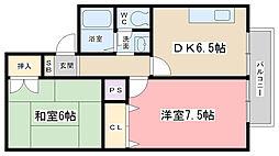 蒼terrace小野[107号室]の間取り