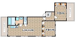 兵庫県神戸市中央区加納町4丁目の賃貸マンションの間取り